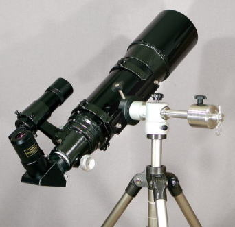 TELE-OPTIC GR-2 Mini with 120mm f/5 refractor on Photo Tripod